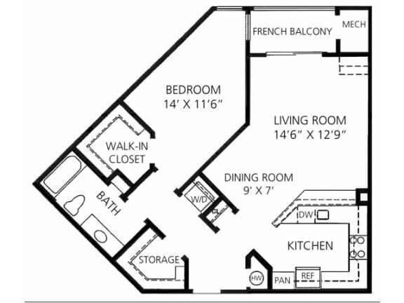 A-3 810 Floor Plan |Faxon Woods