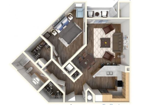 Floor Plan  A-3 810 Floor Plan |Faxon Woods