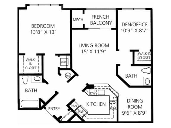 B-1 998 Floor Plan |Faxon Woods