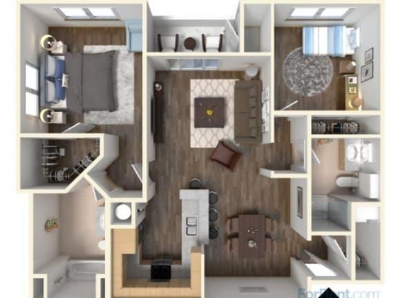 Floor Plan  B-2 1045 Floor Plan |Faxon Woods