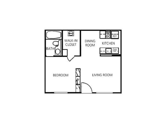 Studio Floor Plan  Hilands I & II