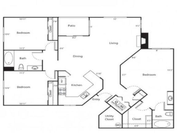 Santa Ana Floor Plan  Links at High Resort