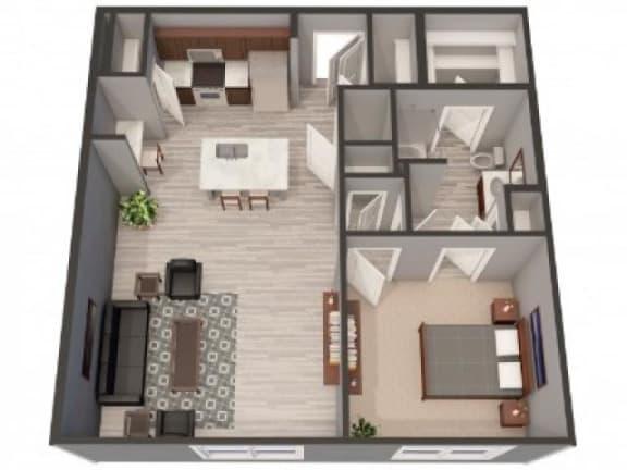 Floor Plan  1C Floor Plan |Lofts at Zebulon