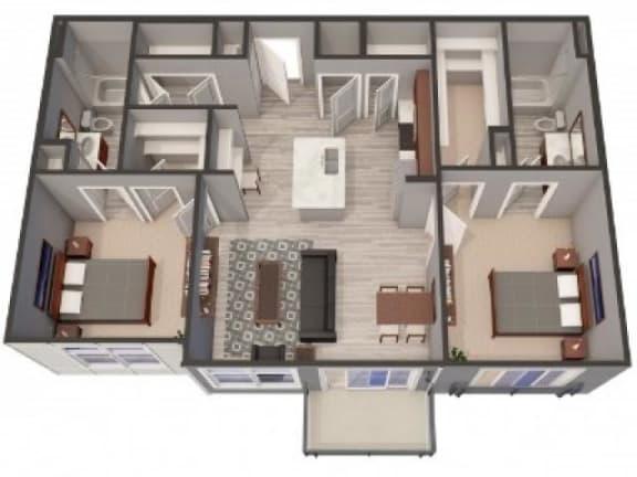 Floor Plan  2A Floor Plan |Lofts at Zebulon