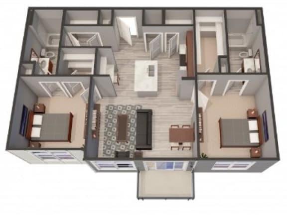 Floor Plan  2A-Alt Floor Plan |Lofts at Zebulon