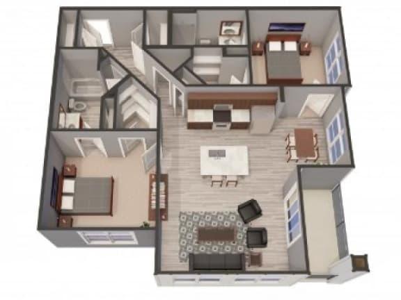 Floor Plan  2B Floor Plan |Lofts at Zebulon