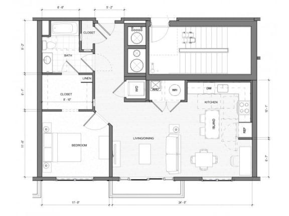 1Bedroom A Floor Plan  Merc