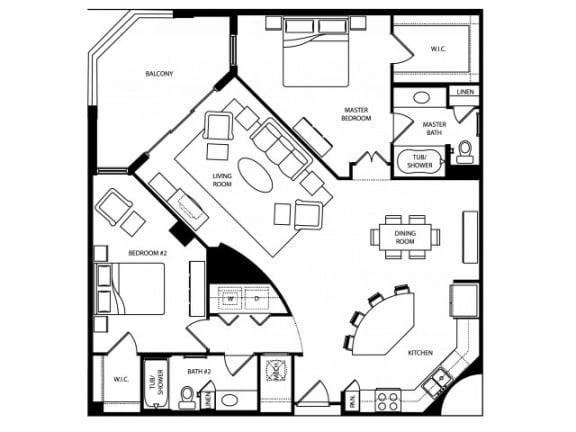 Avalon Floor Plan | The Paramount