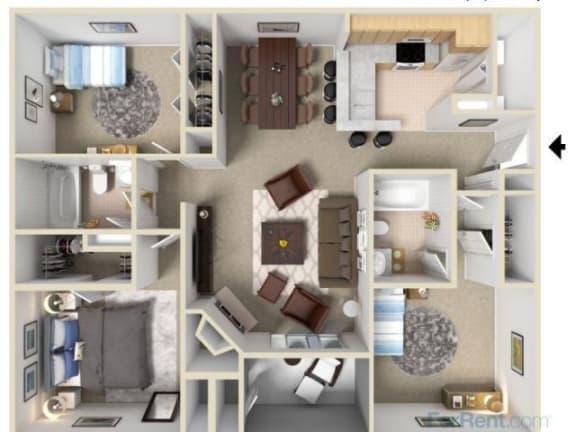 Floor Plan  The Willow Floor Plan |Pavilions