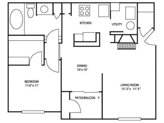 1B_782 Floor Plan |River Stone Ranch