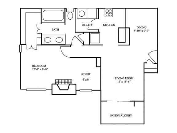 1B_882 Floor Plan   River Stone Ranch