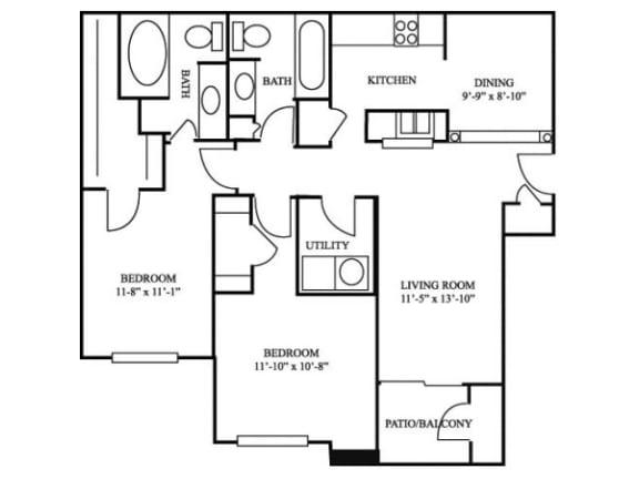 2B_1082 Floor Plan | River Stone Ranch