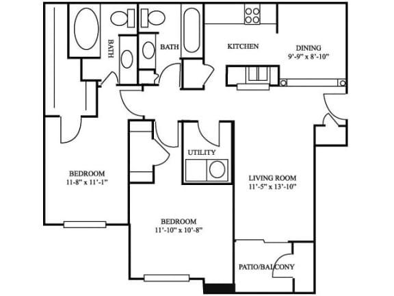 2B_1082 Floor Plan   River Stone Ranch
