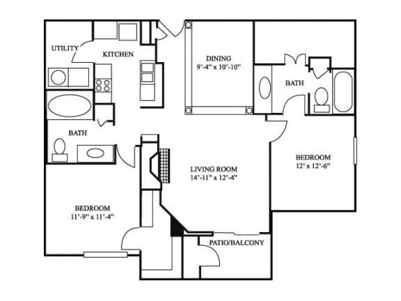 2B_1243 Floor Plan   River Stone Ranch