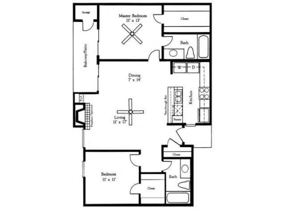 Floor Plan  B3 Floor Plan |Village Oaks