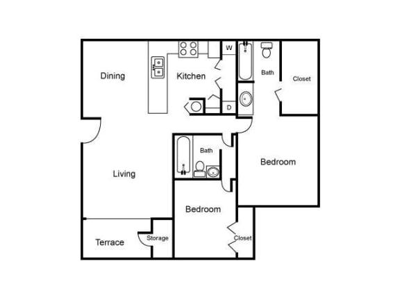Floor Plan  B2 Floor Plan |Village Place