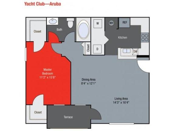 Aruba Floor Plan   Yacht Club