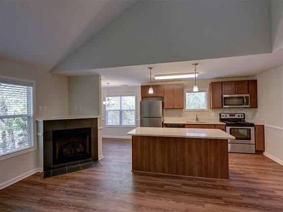Open Floor Plan at Cambridge Apartments, Raleigh, NC, 27615