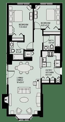 Floor Plan  Floor plan at Marion Square, Massachusetts, 02446