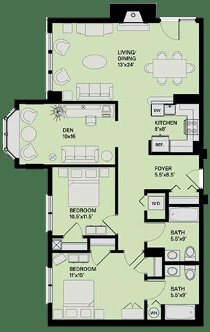 Floor Plan  Floor plan at Marion Square, Brookline, MA