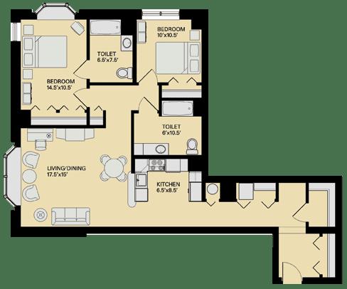 Floor Plan  Floor plan at Marion Square, Brookline