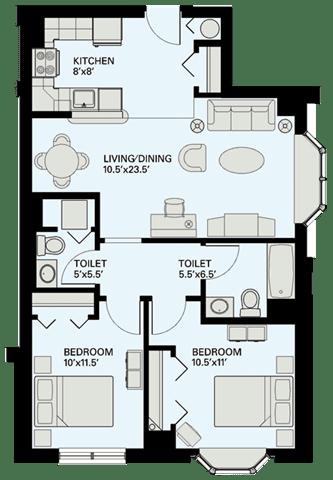 Floor Plan  Floor plan at Marion Square, Brookline, MA 02446