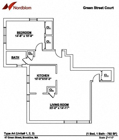 Floor Plan  Floor plan at Green Street, Massachusetts, 02446