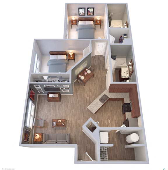 Floor Plan  Madalyn Landing Apartments