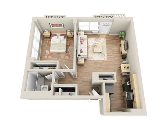 Floor Plan  One bedroom 1