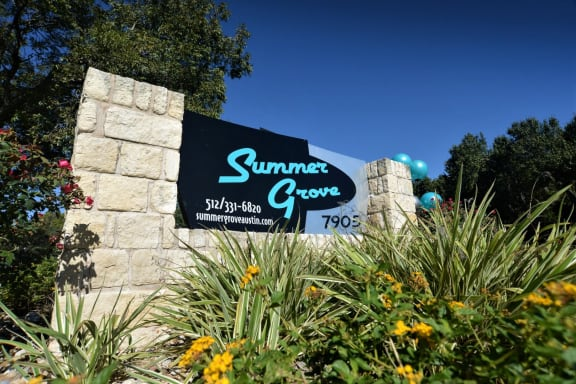 Summer grove front sign of the facility