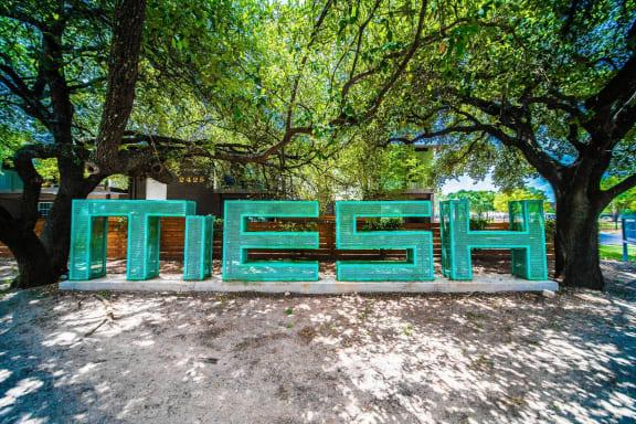Beautiful Entrance at Mesh Properties, Austin, TX