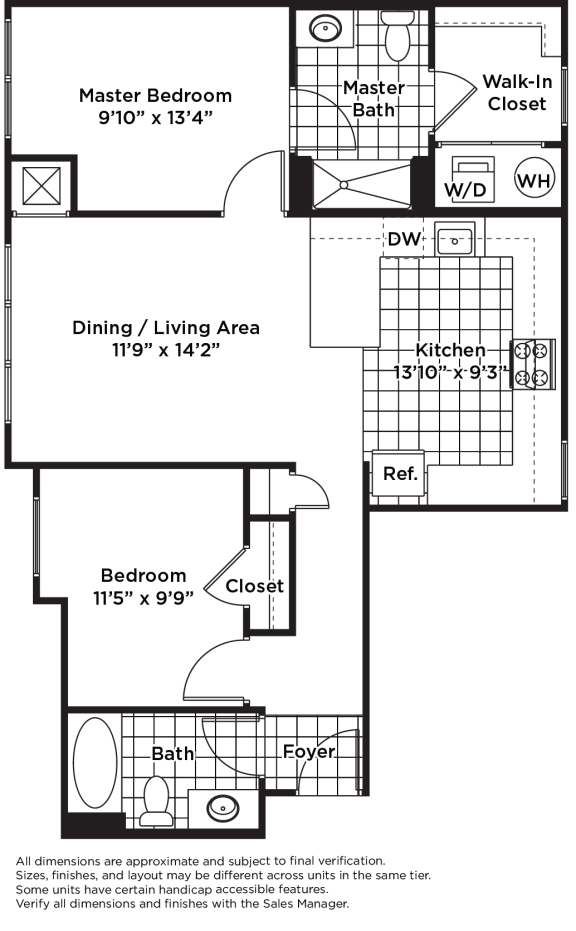 Floor Plan  B01m  (Income Restricted, ADU Program)