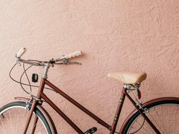 bicycle at Sumida Gardens Apartments, Santa Barbara, California