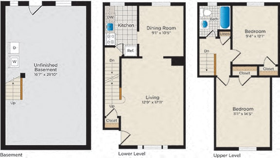 Floor Plan  T02 Townhouse - South