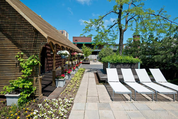 Relaxing Area at Reside on Wellington, Chicago, IL,60657