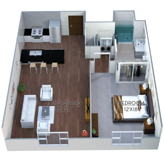 Floor Plan  Floor plan at Linea Cambridge, Cambridge, MA 02140