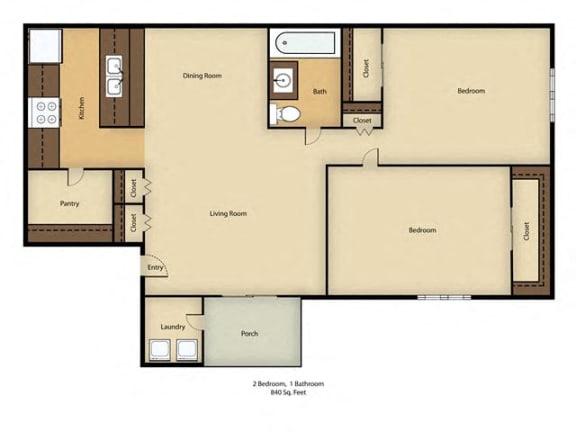Floor Plan  Crestwood Apartments Floor Plan in St. Cloud, FL