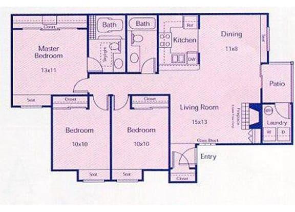 Floor Plan  Reef - 3 Bedrooms