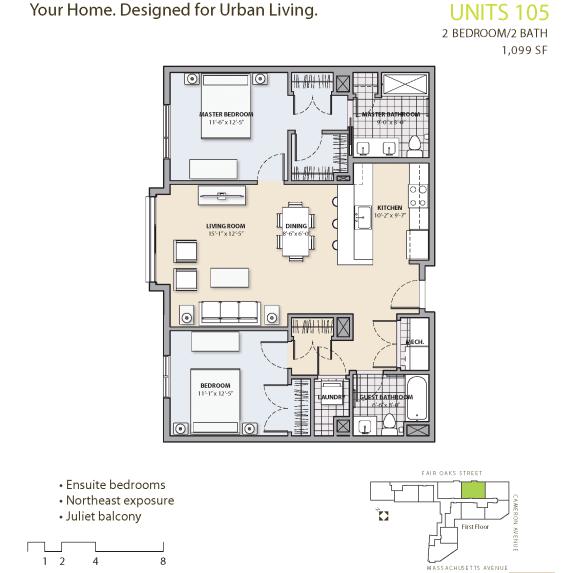 Floor Plan  Floor Plan at 7 Cameron, Cambridge, 02140