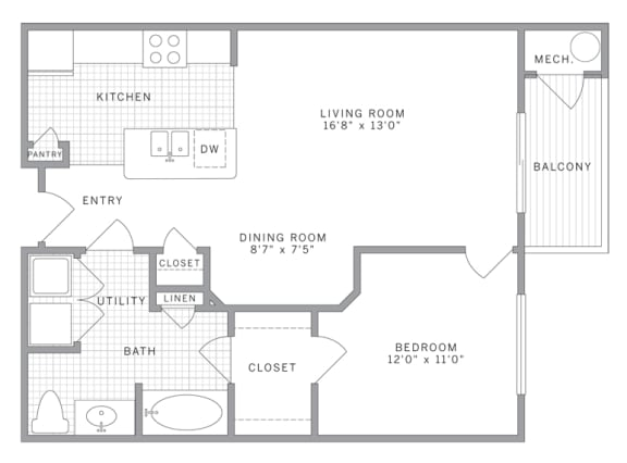 Floor Plan  A1 Floor Plan at AVE Union, Union