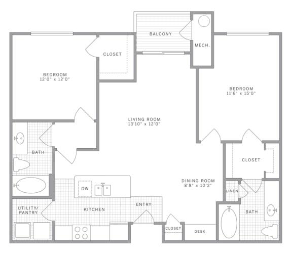 Floor Plan  B1 Floor Plan at AVE Union, New Jersey, 07083