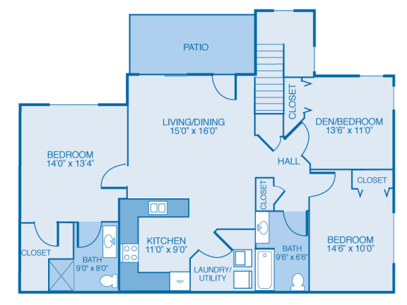 Floor Plan  Washington 1st Floor at Oak Hill Apartments and Townhomes, New York, 12144