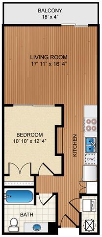 Floor Plan  1 Bed 1 Bath Floor Plan at Eon at Lindbergh, Atlanta, GA, 30324