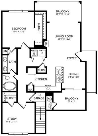 Floor Plan  A7 Floor Plan at San Marin, Texas, 78759