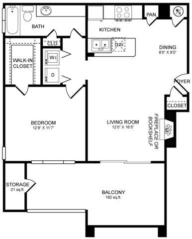 Floor Plan  A2 Floor Plan at San Marin, Austin, 78759
