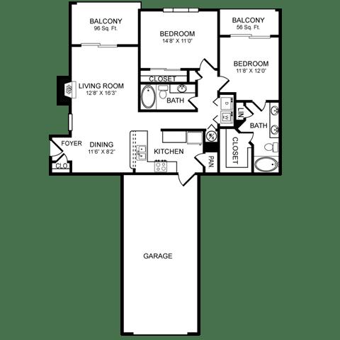 Floor Plan  D6.1 Floor Plan at San Marin, Austin, TX, 78759