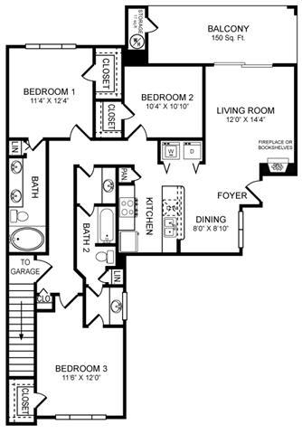 Floor Plan  H1 Floor Plan at San Marin, Texas