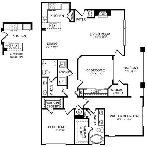 Floor Plan  H2 Floor Plan at San Marin, Texas, 78759