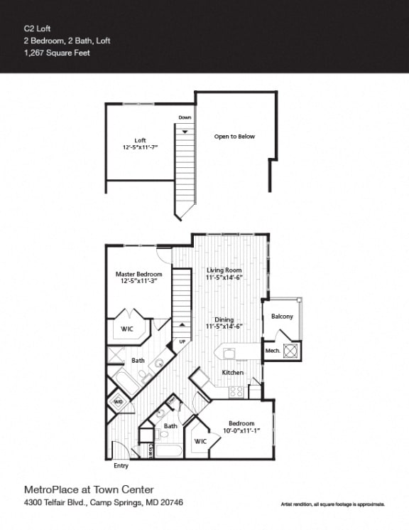 Floor Plan  Federal Triangle Floor Plan at Metro Place at Town Center, Camp Springs, MD, 20746