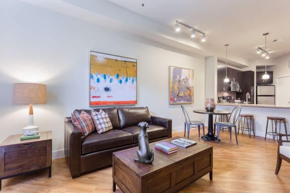 Resort Style Living Room at Eleven by Windsor, Texas